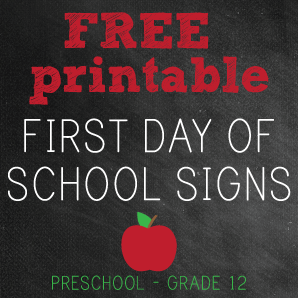 Printable first day of school signs for First day of school sign template