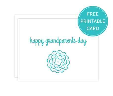image regarding Printable Grandparents Day Card identify  absolutely free grandparents working day printable card