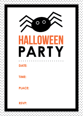 photograph regarding Halloween Invites Printable known as  free of charge printable halloween get together
