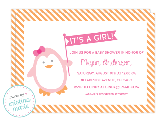 penguin baby shower